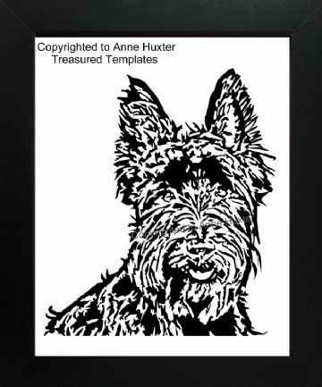 Scottie Dog Face Vinyl Design Template